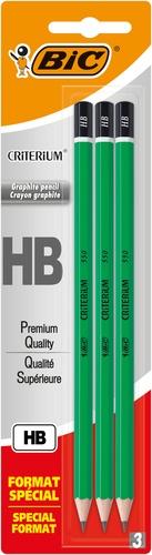 BIC CONTE - crayons à papier Criterium HB x3