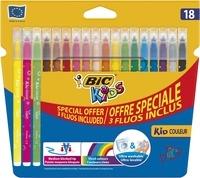 """BIC CONTE - Feutres Kid Couleur """"15+3fluo"""""""