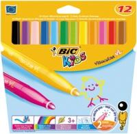 BIC CONTE - Pochette de 12 feutres Visacolor XL