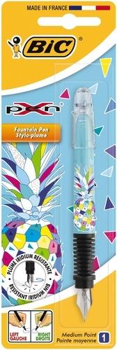 BIC CONTE - Stylo-plume X-Pen Ananas - plume moyenne