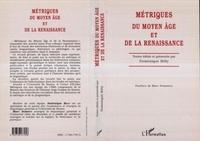 Billy - Métriques du Moyen âge et de la Renaissance - Actes du colloque international du Centre d'études métriques, [Nantes, 20-22 mai] 1996.