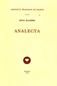 Blachere Regis - Analecta.
