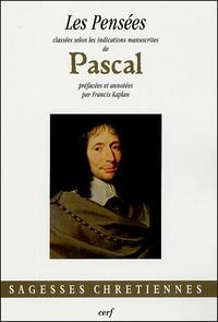 Deedr.fr Les Pensées - Classées selon les indications manuscrites de Pascal Image