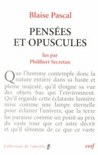 Blaise Pascal - Pensées et opuscules.