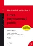 Blaise Tchikaya - Droit international public - Memento de la jurisprudence.