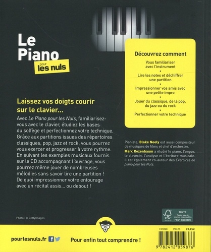 Le piano pour les Nuls  avec 1 CD audio