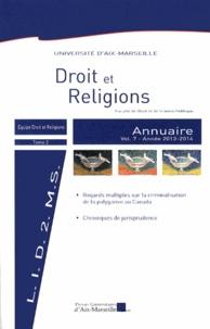 Blandine Chélini-Pont - Annuaire Droit et Religions - Volume 7.
