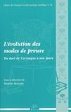 Blandine Hervouët - L'évolution des modes de preuve - Du duel de Carrouges à nos jours.