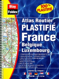 Ucareoutplacement.be Atlas routier plastifié France Belgique Luxembourg Image