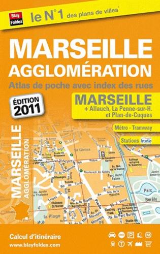Blay-Foldex - Marseille agglomération - Atlas de poche avec index des rues.