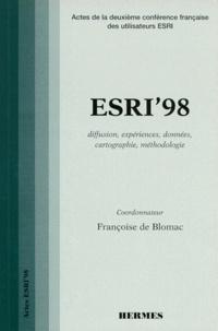 ESRI98. Actes de la deuxième conférence française des utilisateurs ESRI, 23-24 septembre 1998 Paris, France, diffusion, expériences, données, cartographie, méthodologie.pdf