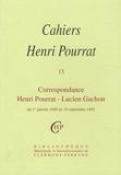 Henri Pourrat - Cahiers Henri Pourrat N° 13 : Correspondance Henri Pourrat - Lucien Gachon - Du 1er janvier 1940 au 18 septembre 1942.