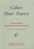 Henri Pourrat - Cahiers Henri Pourrat N° 9 : Correspondance Henri Pourrat - Lucien Gachon - Du 31 janvier 1921 au 25 décembre 1927.