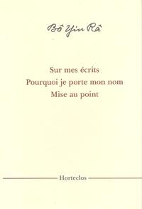 Bô Yin Râ - Sur mes écrits - Pourquoi je porte mon Nom.