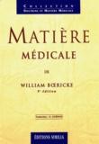 Boericke - Matière médicale.