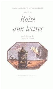 Jacqueline Penjon - Boîte aux lettres.