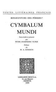 Bonaventure (?) Des périers - Cymbalum Mundi.