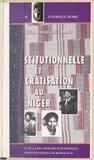 Boubacar Issa Abdourhamane - Crise institutionnelle et démocratisation au Niger.