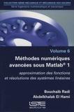 Bouchaïb Radi et Abdelkhalak El Hami - Ingénierie mathématique et mécanique - Volume 6, Méthodes numériques avancées sous Matlab® 1 - Approximation des fonctions et résolutions des systèmes linéaires.