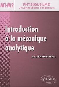 Introduction à la mécanique analytique- Niveau M1-M2 - Boucif Abdesselam  