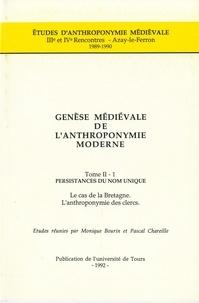 Bourin/chareill - Persistances du nom unique.