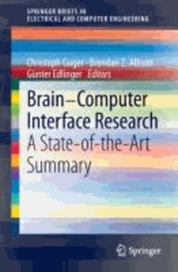 Brain-Computer Interface Research - A State-of-the-Art Summary.