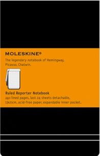 BREPOLS GRAPHIC - Bloc-notes Moleskine rigide 13 x 21 cm ligné noir