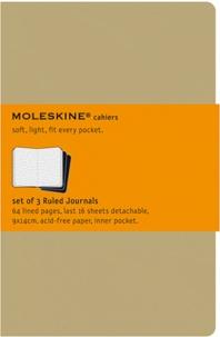 BREPOLS GRAPHIC - Cahier Moleskine carton kraft 9 x 14 cm ligné /3