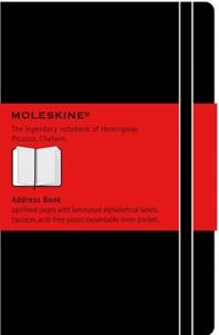 BREPOLS GRAPHIC - Carnet d'adresses Moleskine rigide 13 x 21 cm noir
