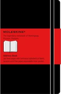 BREPOLS GRAPHIC - Carnet d'adresses Moleskine rigide 9 x 14 cm noir