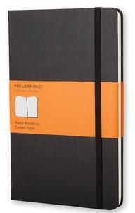 BREPOLS GRAPHIC - Carnet Moleskine rigide 13 x 21 cm ligné noir