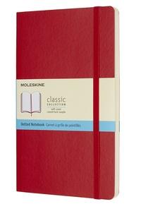 BREPOLS GRAPHIC - Carnet Moleskine souple 13 x 21 cm pointillé scarlet