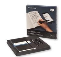 BREPOLS GRAPHIC - Set carnet Moleskine Plus Paper tablet rigide noir + Stylo connecté