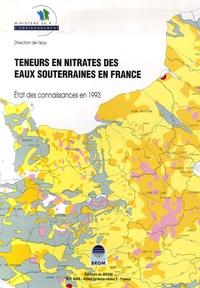 BRGM - Teneurs en nitrates dans les eaux souterraines en France - Etat des connaissances en 1993 - 1/1 500 000.