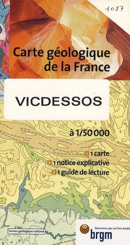 BRGM - Vicdessos - 1/50 000.