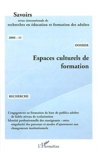 Brigitte Albero - Espaces culturels de formation, Savoirs n°11.