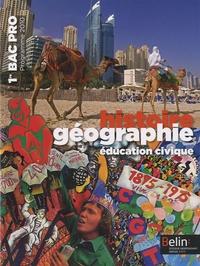 Brigitte Allain-Chevallier - Histoire Géographie Education Civique 1e Bac Pro - Manuel Petit Format, Programme 2010.