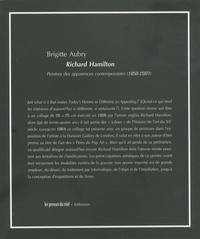Brigitte Aubry - Richard Hamilton - Peintre des apparences contemporaines (1950-2007).