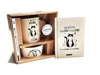Brigitte Bulard-Cordeau et Elise Delprat-Alvarès - On est félins pour l'autre - Le livre de recettes avec 1 mug et 1 gamelle en céramique.