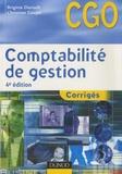Brigitte Doriath et Christian Goujet - Comptabilité de gestion - Corrigés.