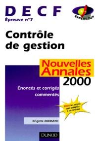 DECF épreuve n° 7 Contrôle de gestion. Enoncés et corrigés commentés, Annales 2000.pdf