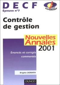 Deedr.fr DECF Epreuve N° 7 Contrôle de gestion. Annales 2001 Image