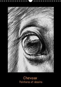 Brigitte Dumont - Peintures et dessins de chevaux (Calendrier mural 2017 DIN A3 vertical) - Chevaux: peintures et dessins (Calendrier mensuel, 14 Pages ).