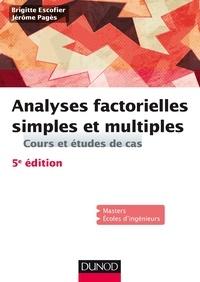 Brigitte Escofier et Jérôme Pagès - Analyses factorielles simples et multiples - Cours et études de cas.