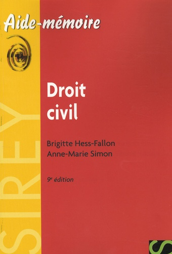Brigitte Hess-Fallon - Droit civil - Edition 2007.