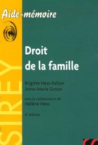Brigitte Hess-Fallon et Anne-Marie Simon - Droit de la famille.