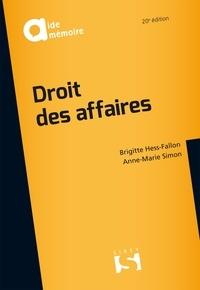 Brigitte Hess-Fallon et Anne-Marie Simon - Droit des affaires.