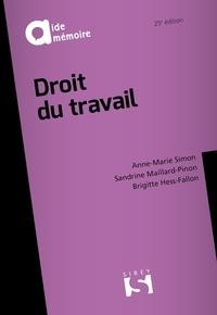 Brigitte Hess-Fallon et Sandrine Maillard-Pinon - Droit du travail.