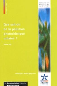 Brigitte Koffi - Que sait-on de la pollution photochimique urbaine ?.
