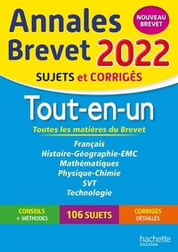 Brigitte Réauté et Michèle Laskar - Annales BREVET 2022 Tout-en-un.